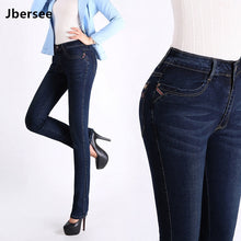 Load image into Gallery viewer, Women High Waist Denim Stretchable Jeans