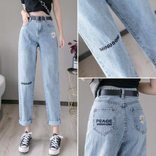 Load image into Gallery viewer, High-waisted Blue Denim Jeans For Women