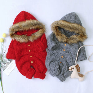 Baby Knitted Rompers/Jumpsuits for winter with Long Sleeves 6M-24M