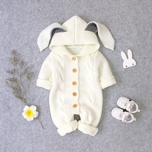 Load image into Gallery viewer, Baby Bunny and Cat Long Sleeved Knitted Rompers Jumpsuits for Winter