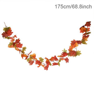 1.75m Artificial Maple Leaf Vine Home Autumn Decoration for Thanksgiving