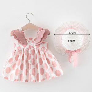 Baby Girl Sleeveless Dress With Hat and Sets (Varied)