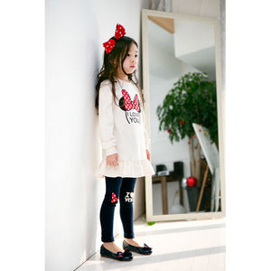Shirt and Leggings Cotton Set For Girls