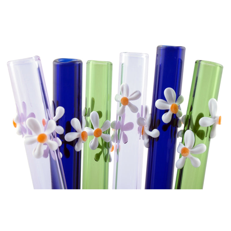Raw Blend Designer Straws Straight - Flowers