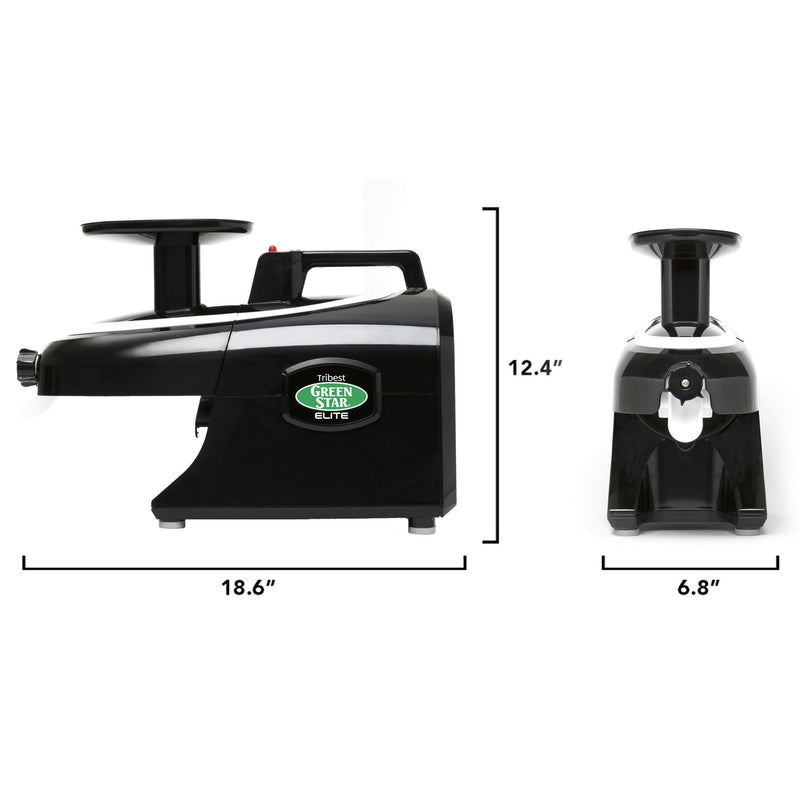 Greenstar Elite  Twin Gear Cold Press Juicer (Black)