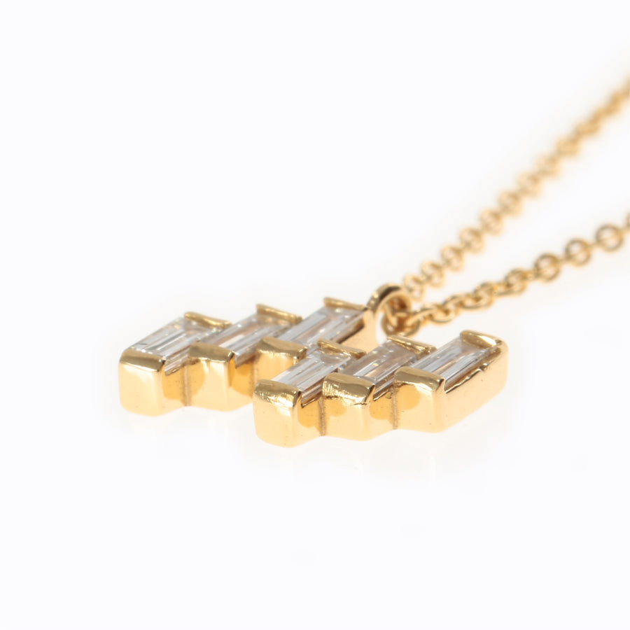 Essence Baguette Necklace 0.16ct