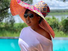 Load image into Gallery viewer, Chitenge Sun Hats Of Happiness