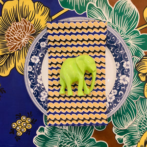 Green Elephant Napkin Rings