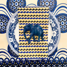 Load image into Gallery viewer, Dark Blue Elephant Napkin Rings