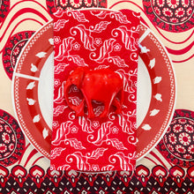 Load image into Gallery viewer, Red Elephant Napkin Rings