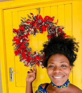 Holiday Chitenge Wreaths