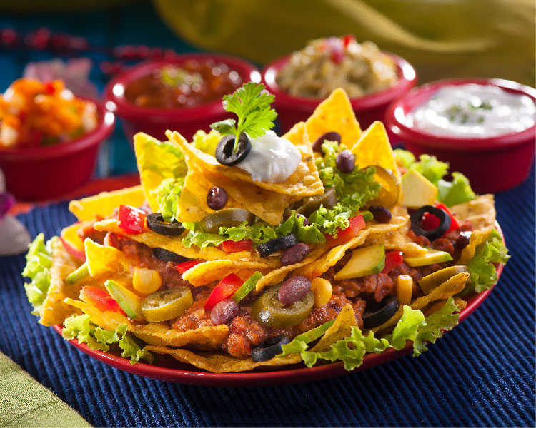 Veggie Loaded Nachos