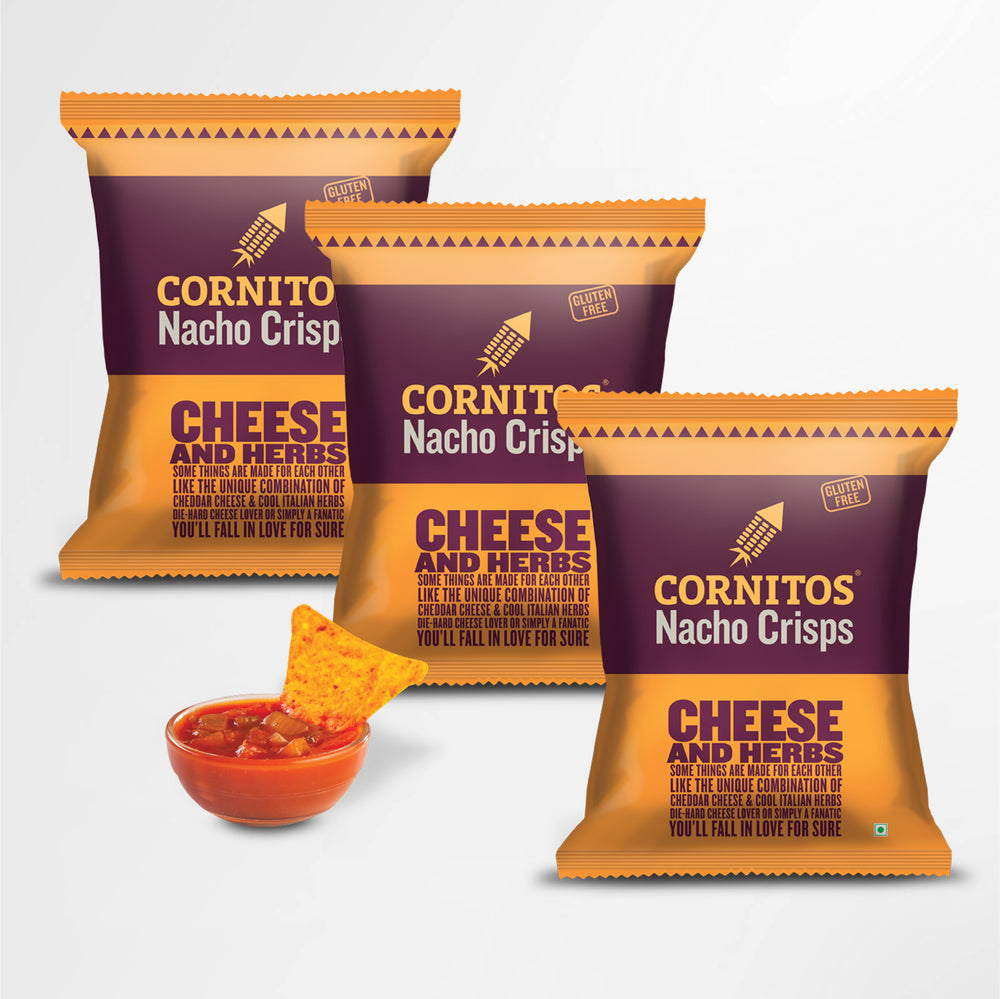 Cornitos Nacho Chips Cheese & Herbs 60g X 3 Pack Combo