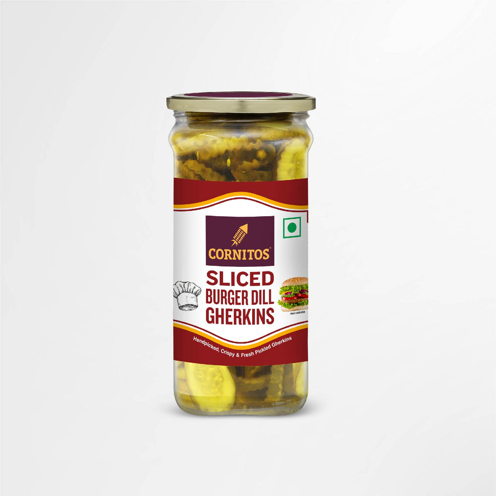 Load image into Gallery viewer, Sliced Burger Dill Gherkins 180g