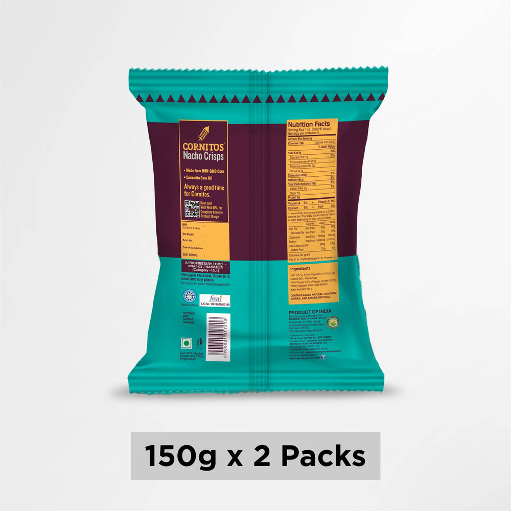 Cornitos Nacho Crisps Sea Salt 150g X 2 Pack Combo