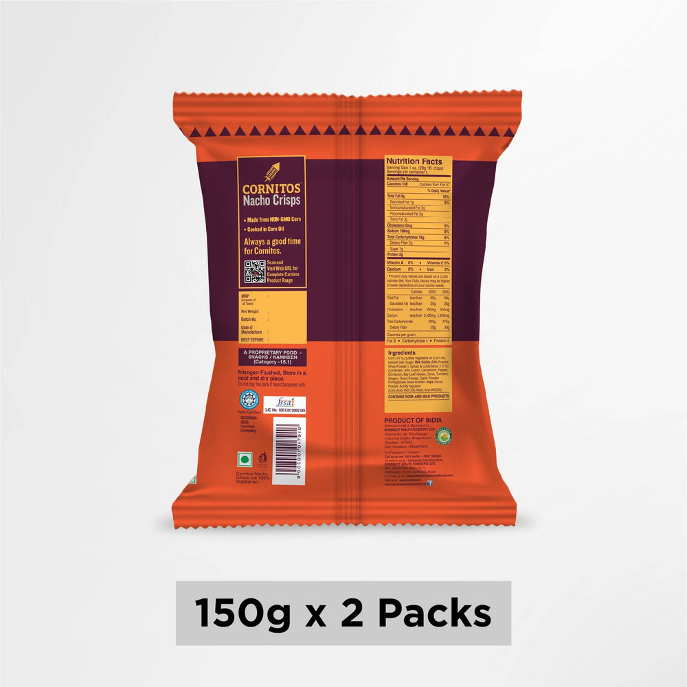 Load image into Gallery viewer, Cornitos Nacho Crisps Tikka Masala 150g X 2 Pack Combo