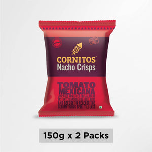 Cornitos No Onion No Garlic Tomato Mexicana Nacho Crisps 150g X 2 Pack Combo