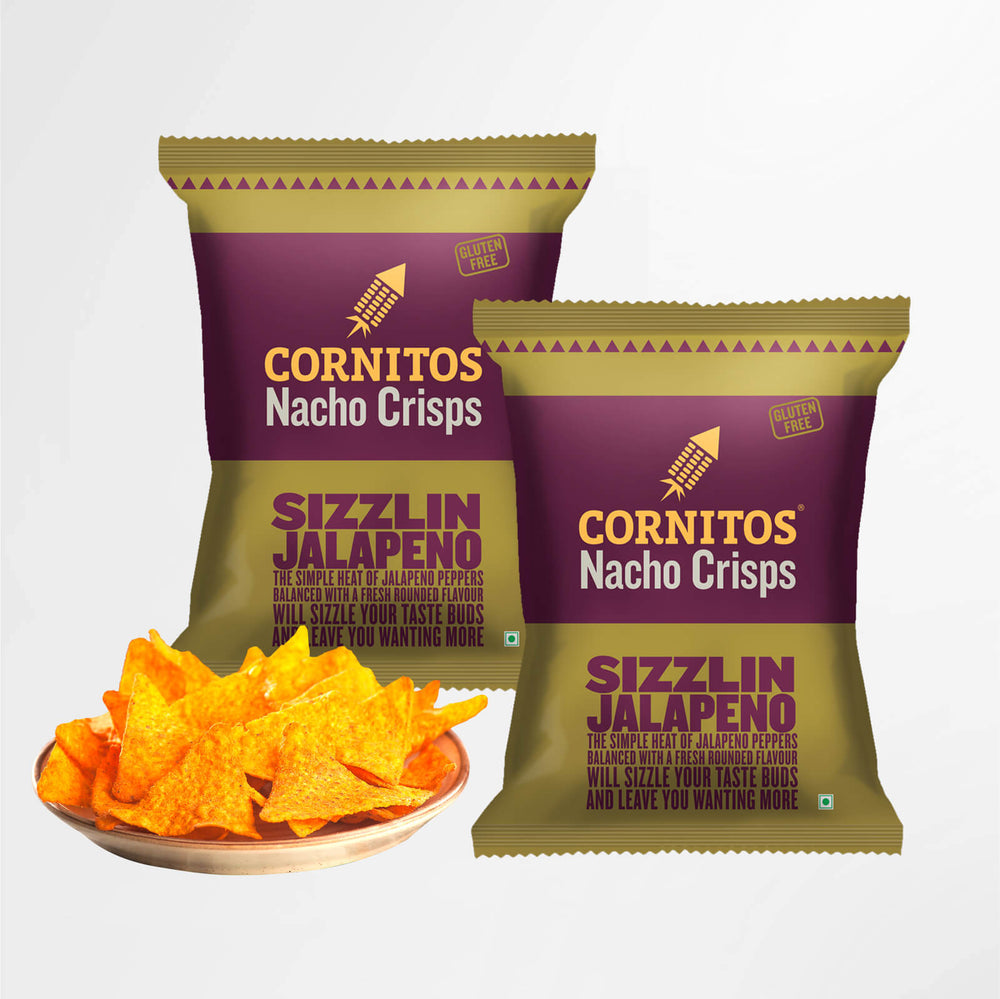 Load image into Gallery viewer, Cornitos Nacho Crisps Sizzlin Jalapeno 150g X 2 Pack Combo