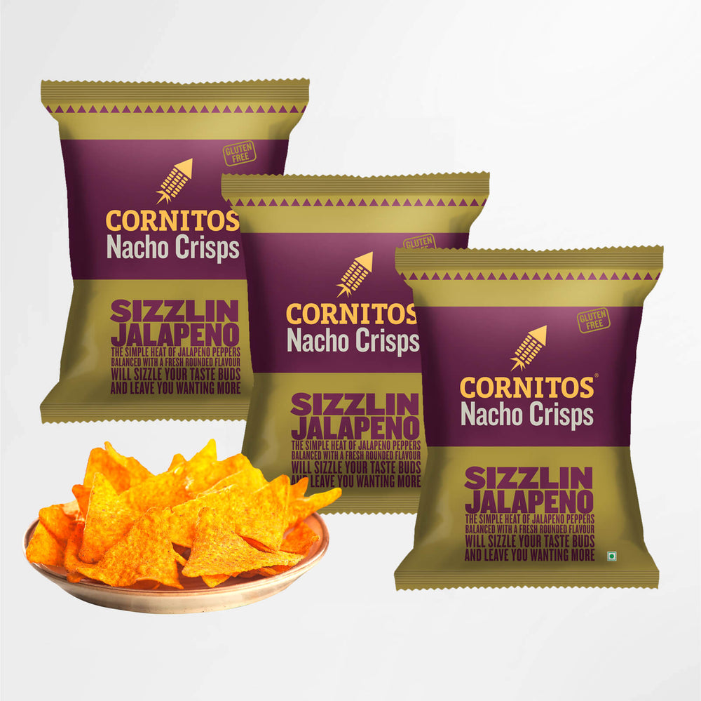 Load image into Gallery viewer, Cornitos Nacho Crisps, Sizzlin Jalapeno, 60g X 3 Pack Combo