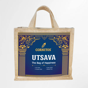 Utsava CGP006 (Eco-Friendly Reusable JUTE shopping bag included)