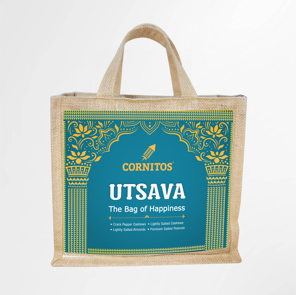 Load image into Gallery viewer, Utsava CGP011 Gift Pack in Eco-Friendly Reusable JUTE shopping bag