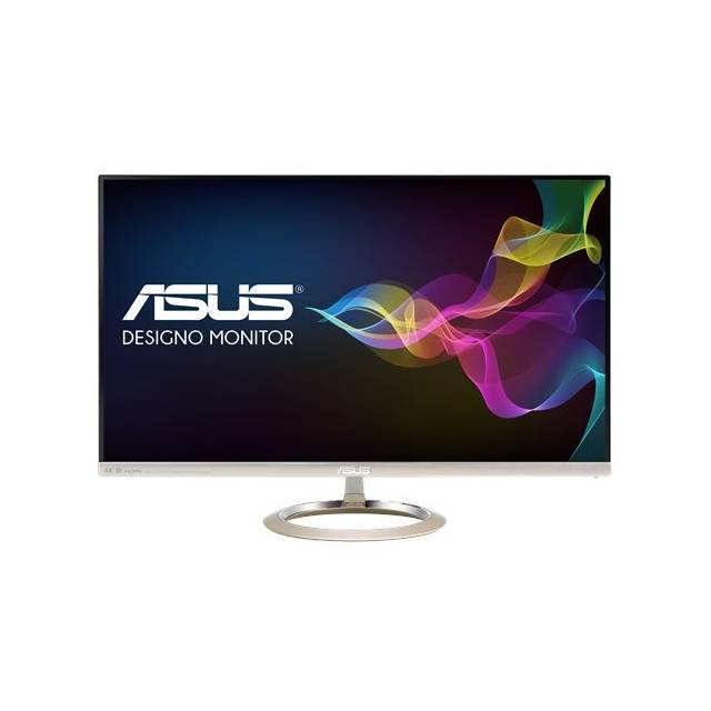 Asus MX27UC 27 inch Widescreen 100,000,000:1 5ms USB/HDMI/DisplayPort LED LCD Monitor, w/ Speakers (Icicle Gold & Black)