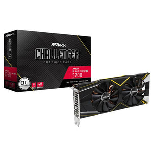ASRock AMD Radeon RX 5700 XT Challenger D 8G OC GDDR6 HDMI/3DisplayPort PCI-Express 4.0 Video Card