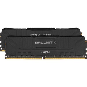 Crucial Ballistix DDR4-3200 16GB(2x 8GB)/ 1G x 64 CL16 Memory Kit (Black)