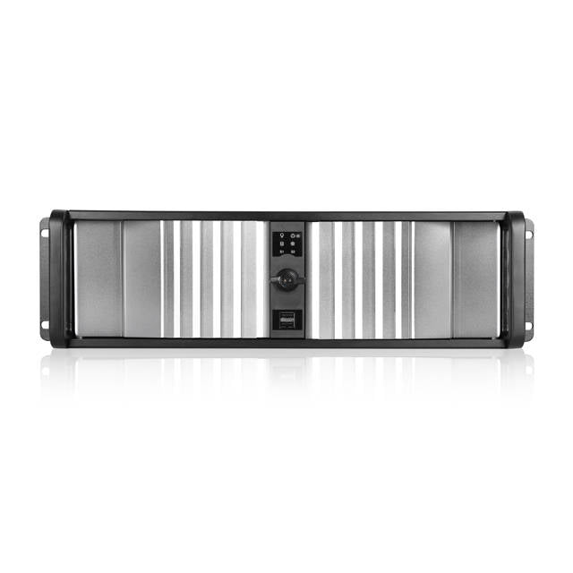iStarUSA D Storm D-300SEA-SL No Power Supply 3U Compact Stylish Rackmount Server Chassis w/ SEA Bezel (Silver/Black)