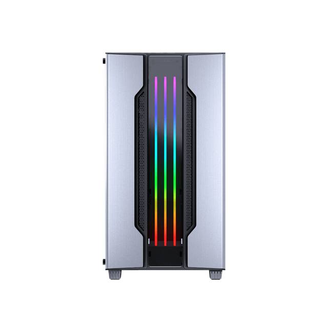 Cougar GEMINI M SILVER Mini Tower Gaming Case with Addressable RGB and Dynamic Lighting Effects (Silver)