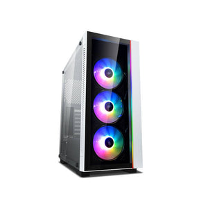 DEEPCOOL MATREXX 55 3V ADD-RGB 3F WHITE ATX Mid Tower/Front panel and side panel Tempered glass/ ADD-RGB Strip/ 3PCS ADD-RGB COOLING FAN Pre-install/Support E-ATX MB
