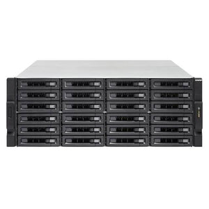 QNAP TVS-EC2480U-SAS-RP-16G-R2-US Intel Xeon E3-1245 v3/E3-1246 v3 3.4/3.5GHz/ 16GB RAM/ 6GbE/ 24SATA3/ USB3.0/ 24-Bay 4U Rackmount NAS for Enterprise