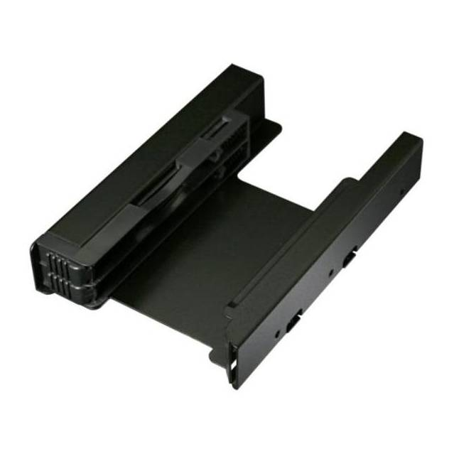 ICY DOCK EZ-FIT PRO MB082SP Full Metal Dual 2.5 inch to 3.5 inch Hard Drive & SSD Mounting Kit w/ 3.5 inch Bracket(Black)