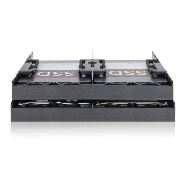 ICY DOCK FLEX-FIT Quattro MB344SP 4x 2.5 inch HDD / SSD Bracket for External 5.25 inch Bay (Black)
