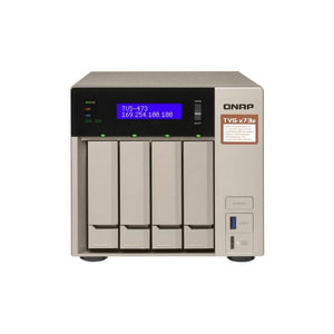 QNAP TVS-473E-8G-US AMD R-Series RX-421BD 2.1GHz/ 8GB DDR4/ 4GbE/ 4SATA3/ USB3.0/ 4-Bay Tower NAS Server for SMBs