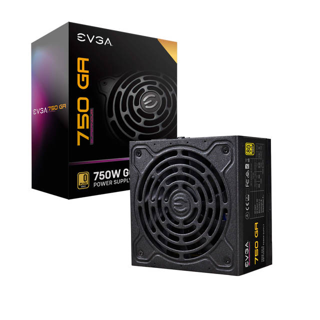 EVGA 220-GA-0750-X1 SuperNOVA 750 GA, 80 Plus Gold 750W, Fully Modular, Eco Mode with DBB Fan, 10 Year Warranty, Includes Power ON Self Tester, Compact 150mm Size, Power Supply 220-GA-0750-X1