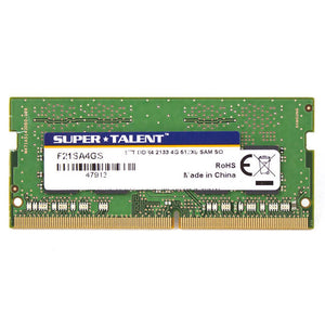 Super Talent DDR4-2133 SODIMM 4GB/512Mx8 CL15 Samsung Chip Notebook Memory