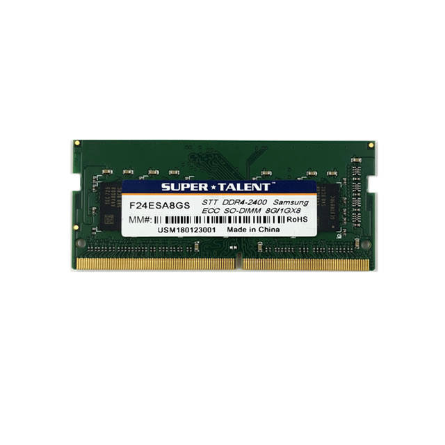 Super Talent DDR4-2400 SODIMM 8GB ECC Samsung Chip Notebook Memory