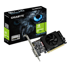 GIGABYTE NVIDIA GeForce GT 710 2GB DDR5 DVI/HDMI Low Profile PCI-Express Video Card