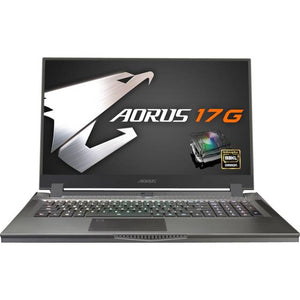 Gigabyte AORUS 17G YB-8US2130MP 17.3 inch Intel Core i7-10875H 2.3GHz/ 16GB DDR4/ 512GB SSD/ RTX 2080 Super Max-Q/ USB3.2/ Windows 10 Pro Notebook (Black)