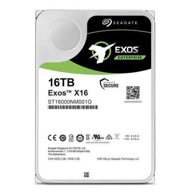 Seagate Enterprise Capacity ST16000NM001G 16TB 7200RPM SATA 6Gb/s 256MB Enterprise Hard Drive (EXOSX16 512E/4KN SATA)