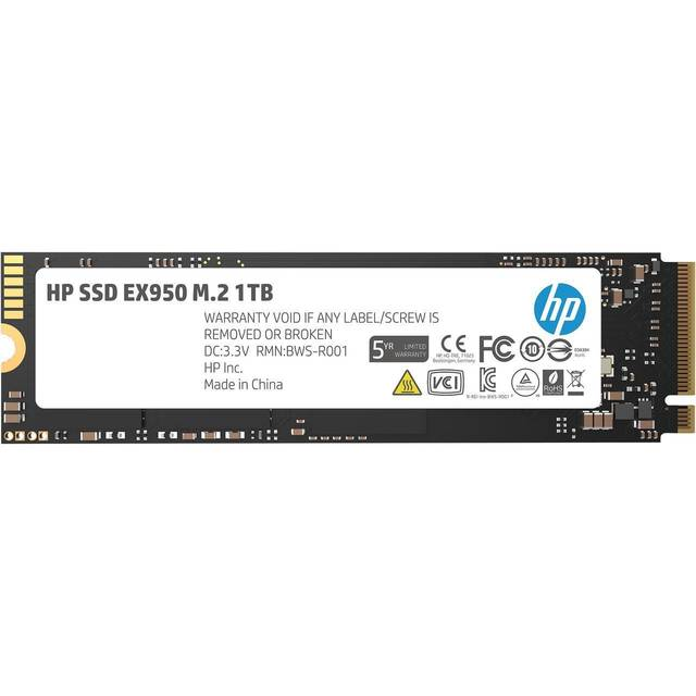 HP EX950 Series M.2 2280 1TB PCI-Express 3.0 x4 NVMe1.3 3D Internal Solid State Drive