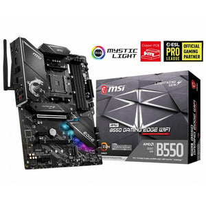 MSI MPG B550 GAMING EDGE WIFI Socket AM4/ AMD B550/ DDR4/ 2-Way CrossFire/ SATA3&USB3.2/ M.2/ WiFi & Bluetooth/ ATX Motherboard