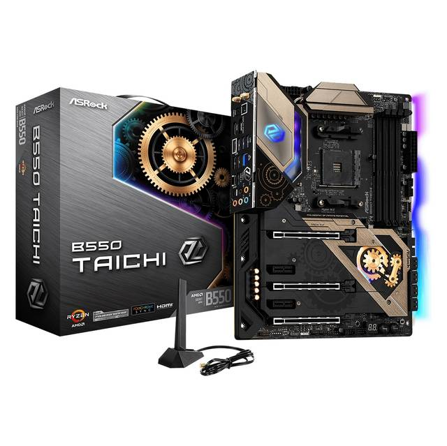 ASROCK B550 TAICHI Socket AM4/ AMD B550/ DDR4/ Quad &3-Way CrossFireX/ SATA3&USB3.2/ M.2/ WiFi&Bluetooth/ ATX Motherboard