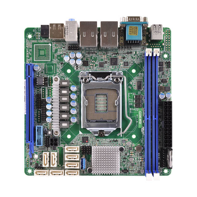 ASRock Rack C236 WSI LGA1151/ Intel C236/ DDR4/ SATA3USB3.0/ A&2GbE/ Mini-ITX Server Motherboard
