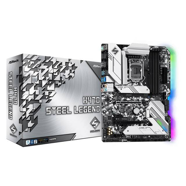 ASROCK H470 STEEL LEGEND Socket LGA1200/ Intel H470/ Quad CrossFireX/ DDR4/ SATA3&USB3.2/ M.2/ ATX Motherboard