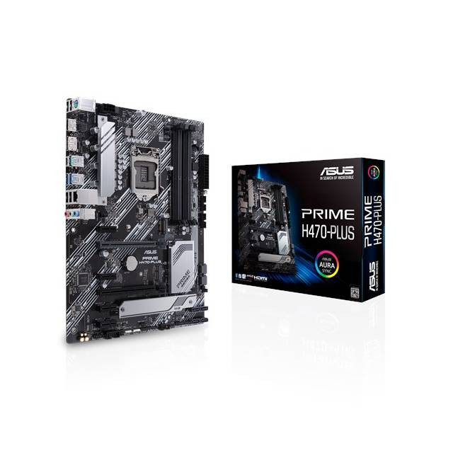 Asus PRIME H470-PLUS/CSM LGA1200/ Intel H470/ DDR4/ 2-Way CrossFireX/ SATA3&USB3.2/ M.2/ WiFi/ ATX Motherboard