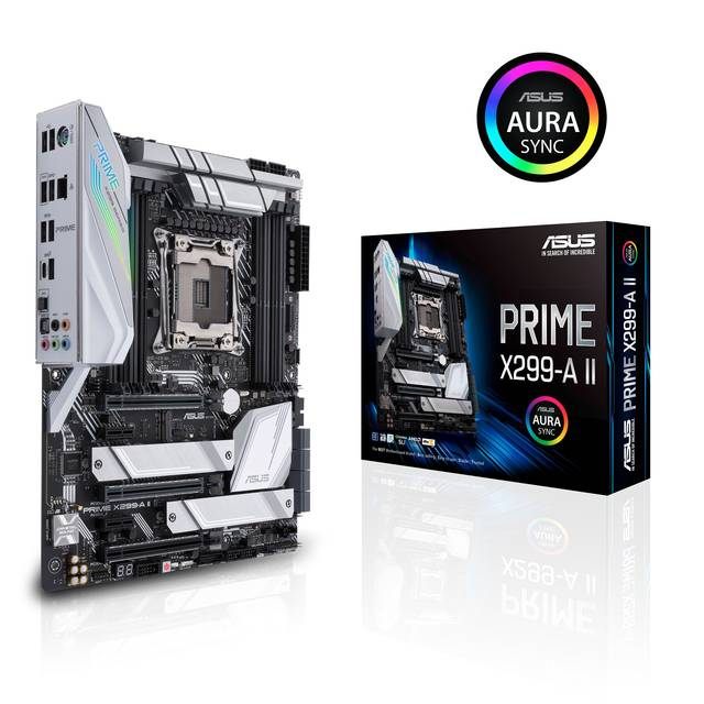 Asus PRIME X299-A II LGA2066/ Intel X299/ DDR4/ 3-Way CrossFireX & 3-Way SLI/ SATA3&USB3.2/ M.2/ A&GbE/ ATX Motherboard