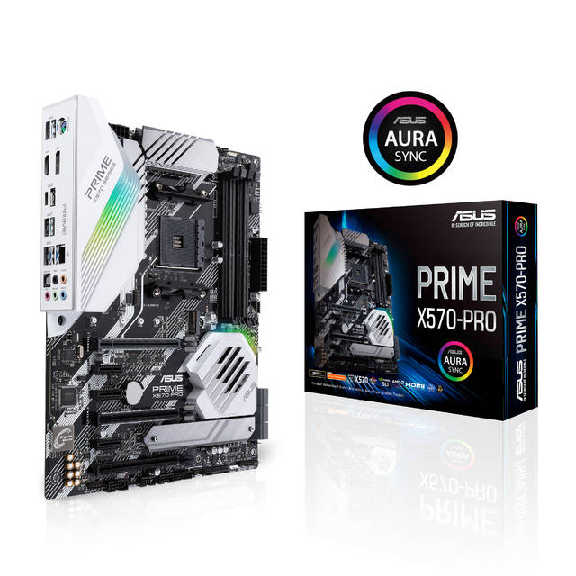 Asus PRIME X570-PRO Socket AM4/ AMD X570/ DDR4/ 3-Way CrossFireX & 2-Way SLI/ SATA3&USB3.2/ M.2/ A&V&GbE/ ATX Motherboard