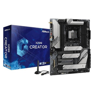 ASRock X299 CREATOR LGA 2066/ Intel X299/ DDR4/ 3-Way CrossFireX & 3-Way SLI/ SATA3&USB3.2/ M.2/ WiFi/ Bluetooth/ ATX Motherboard